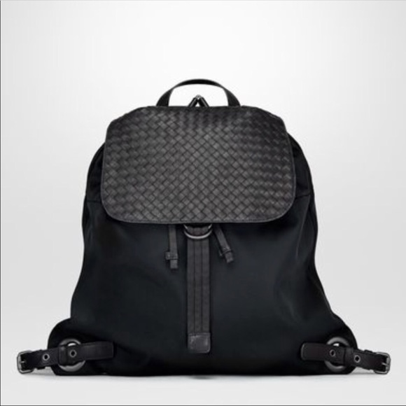 2c22194b64a7 Bottega Veneta Technical Canvas Backpack NEW!